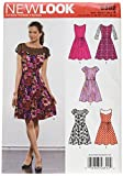 New Look Sewing Pattern UN6392A Autumn Collection Misses' Dresses with Contrast Fabric Options Sewing Patterns, A (10-12-14-16-18-20-22)