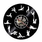 Crazypicky 24 Hours Sex Position Vinyl Record Wall Clock Living Room Decor Handmade Gift