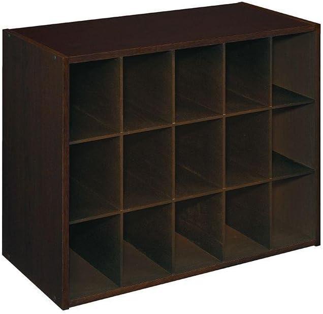 ClosetMaid 8929 Stackable 15-Unit Organizer, Espresso
