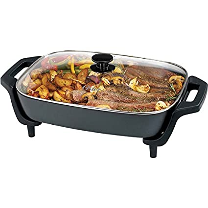 Oster 12 x 16-inch Black Electric Skillet 2-In-1 Functionality Works