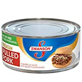 Swanson Premium Pulled Pork in Barbecue Sauce with Smoke Flavor Added, 9.7 oz.