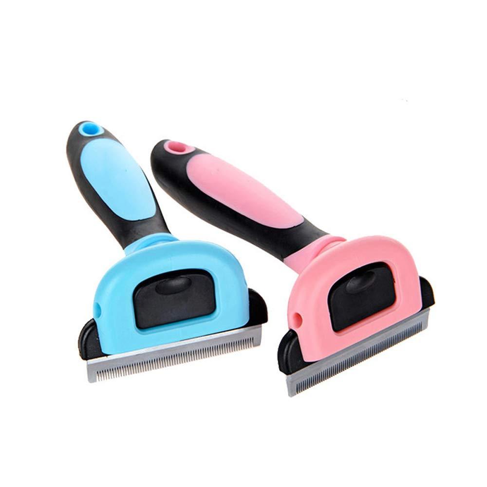 JIGAN Dog Deshedding Brush, Pet Grooming Tool,Deshedding Tool & for Large, Medium & Small Dogs[2pcs],S