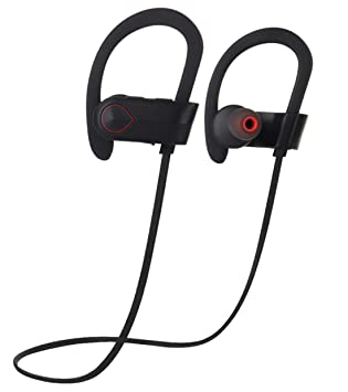 Joyeer Auricular Bluetooth inalámbrico deportivo correr oreja gancho estéreo auriculares ruido cancelación voz avisos sweatproof auricular