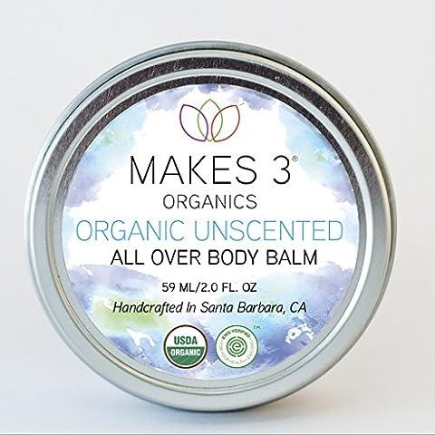 Makes 3 Organics All Over Body Balm - EWG VERIFIED - Moisturizing Body Balm - Use on Dry Skin, (Resurrection Aromatique Hand Balm)