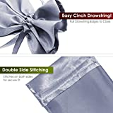 """Knitial 4"""" x 6"""" Silver Satin Gift Bags, Jewelry"""
