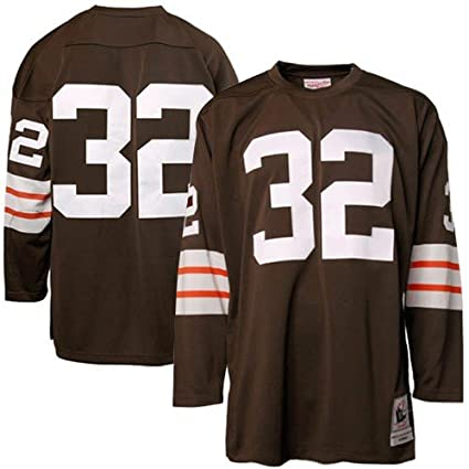 official photos b6764 11494 Amazon.com : Cleveland Browns #32 Jim Brown 1964 Authentic ...