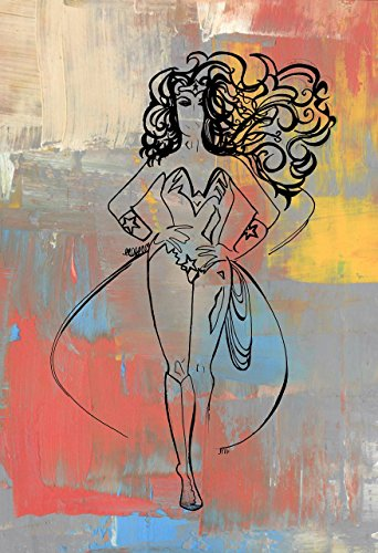 Wonder Woman Print, Birthday, Female Strength, Super Hero, Wonder Woman Gift, Warrior, Comic Book, Painting, Female Superhero, Strong (Heroes Sketch Cards)