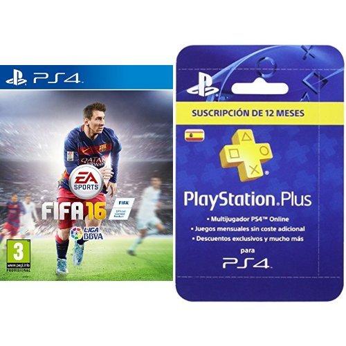 FIFA 16 - Standard Edition + PlayStation Plus - Tarjeta de ...