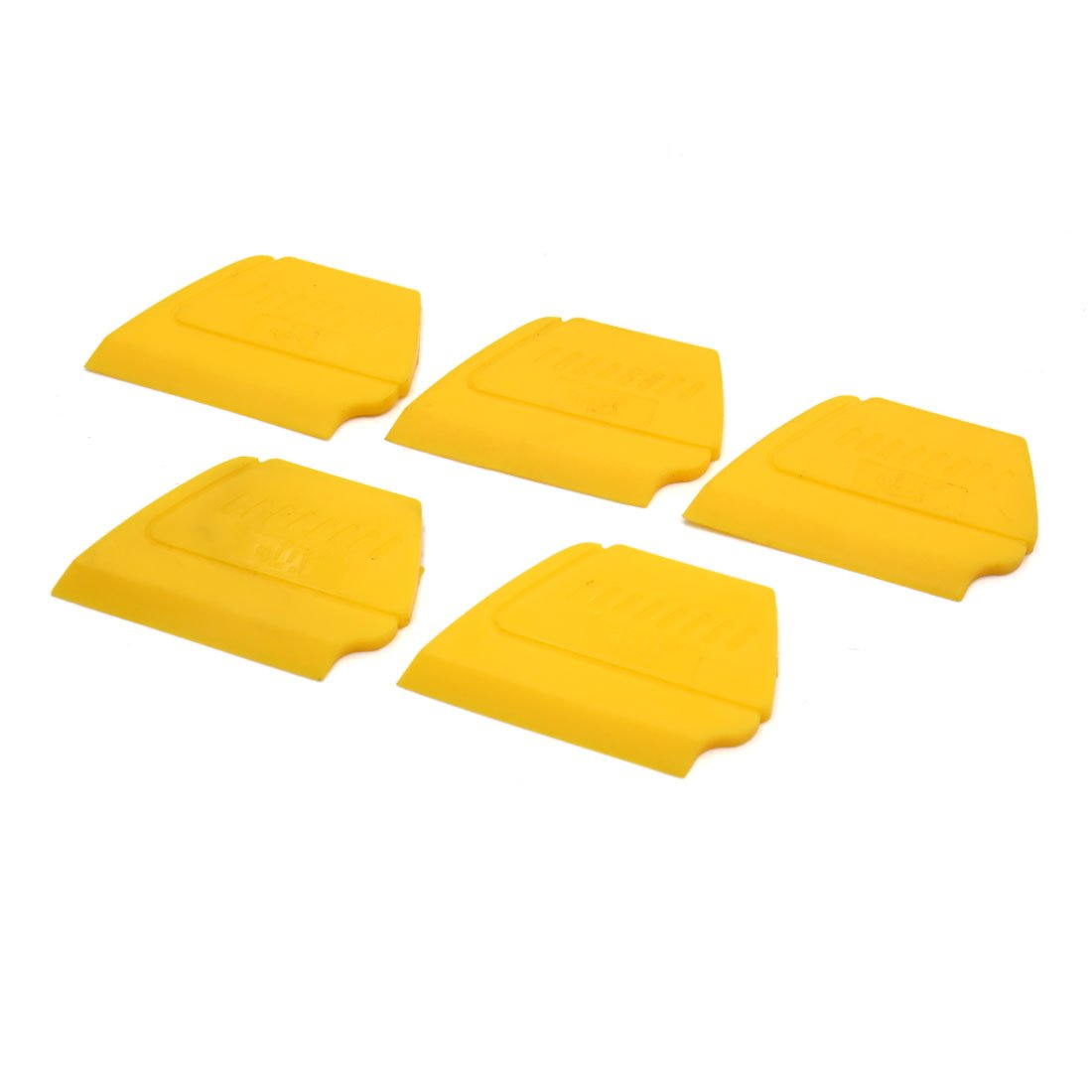 Uxcell a17072400ux1411 5Pcs Yellow Car Auto Windshield Tinting Scraper Edge Insert Squeegee Hand Tool, 5 Pack