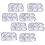 Set of 8 Disposable Aluminum Foil Muffin Pans