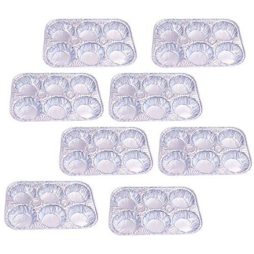 Set of 8 Disposable Aluminum Foil Muffin Pans