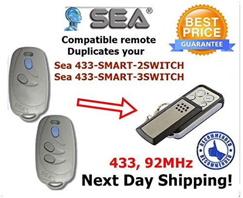 Price comparison product image Sea 433-SMART-2SWITCH, Sea 433-SMART-3SWITCH Fixed Code 433,92Mhz Compatible Clone Remote Control Replacement