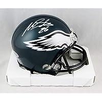 $75 » Miles Sanders Autographed Philadelphia Eagles Mini Helmet - Beckett Auth White