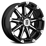 xd series badlands black - XD Series by KMC Wheels XD779 Badlands Gloss Black Wheel with Machined Accents (20x9