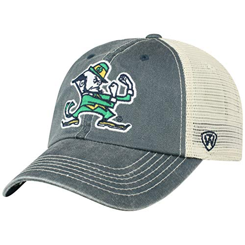 best cheap 3a281 afe37 Top of the World NCAA Notre Dame Fighting Irish Men s Vintage Mesh  Adjustable Icon Hat, Navy