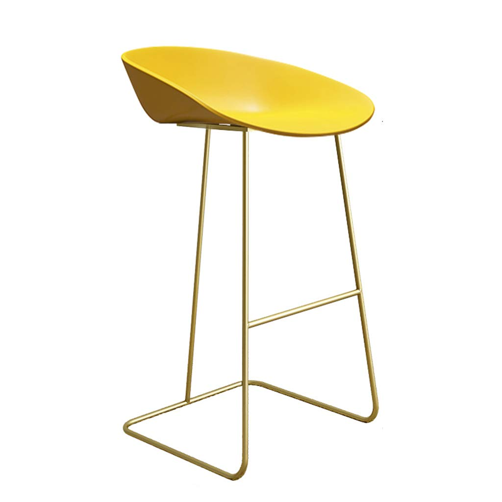 3 Leisure Bar Chairs Large Seats Dining Chairs Nordic Style High Stool Minimalist Bar Stools for Metal+Plastic for Bar Pub Counter Kitchen Cafe Office