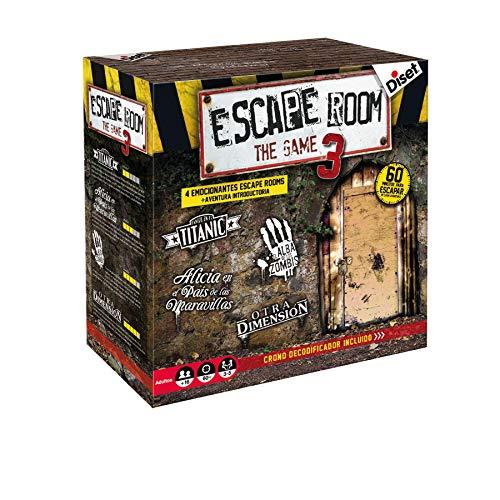 Diset – Escape Room the game 3 – Juego de mesa adulto a partir de 16 años