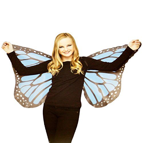 Fun World Soft Butterfly Wings Blue for Halloween, School Acting, Costume Party, for Girls (Kids) Child Size (1 -