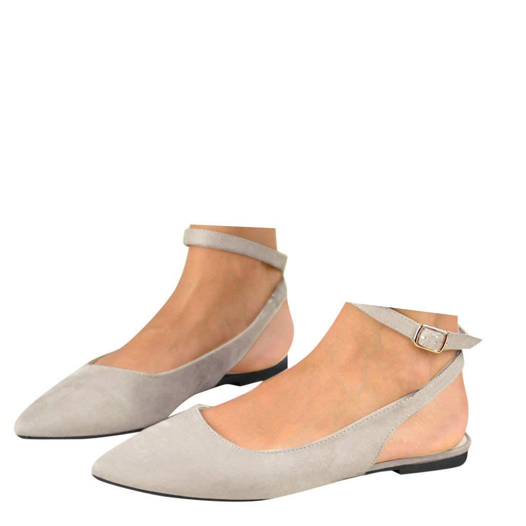 b4c8f2a58b63c Amazon.com: Veodhekai Womens Flats Shoes Pointed Toe Flat Buckle ...
