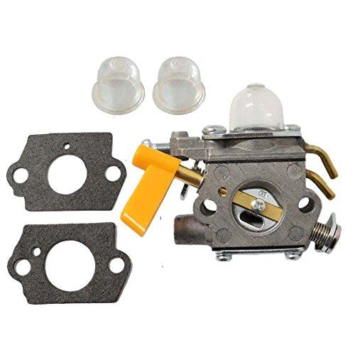 FYH New Pack of Replacement 308054004 308054013 308054008 308054012 ZAMA C1U-H60 308054003 3074504 Carburetor + Primer Bulb + Gasket fit for Homelite Ryobi Trimmer Craftsman Blower UT-21004