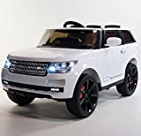 range rover electric car - Electric Ride On Car Toy For Kids RANGE ROVER STYLE ROV-SC6628 / White