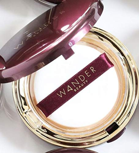 Wander Beauty Wanderlust Powder Foundation - Medium - Talc Free, Cruelty Free, Vegan Lightweight Powder Foundation Covers Everything, Silky Smooth, Natural, Matte Finish, Sheer to Buildable Full Coverage