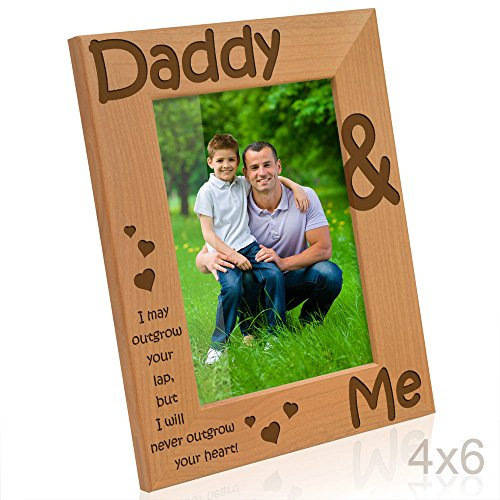 Kate Posh Daddy & Me - I may outgrow your lap, but I will never outgrow your heart - Picture Frame (4x6 - Vertical)