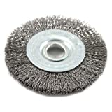 Forney 72748 Wire Wheel Brush, Fine Crimped with 1/2-Inch Arbor, 3-Inch by .008-Inch