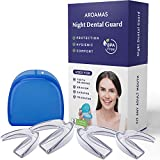 Teeth Grinding BPA Latex Free Moldable Custom Dental Night Guards, FDA Approved, Upper & Lower Teeth, 3-in-1 Multi-Purpose Teeth Whitening Tray & Athletic Mouth Guard 2 Sizes (Pack of 4) (Size 1)