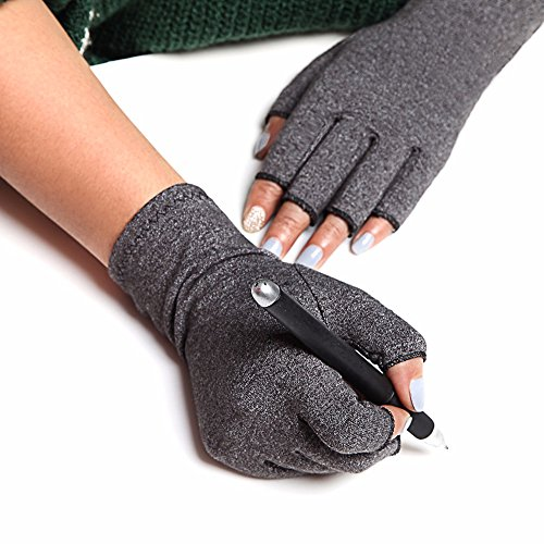 COLO Arthritis Gloves Compression Gloves for Rheumatoid & Osteoarthritis - Men & Women Hand Gloves Provide Arthritic Joint Pain Symptom Relief - Open Finger (S) by COLO (Image #6)