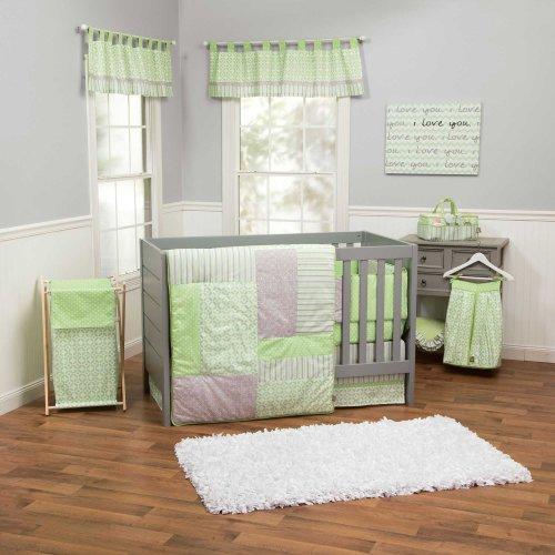 UPC 811716022121, Lauren 4 Piece Baby Crib Bedding Set with Bumper by Trend Lab