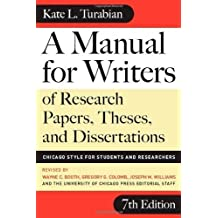 By kate l. Turabian: a manual for writers of research papers.