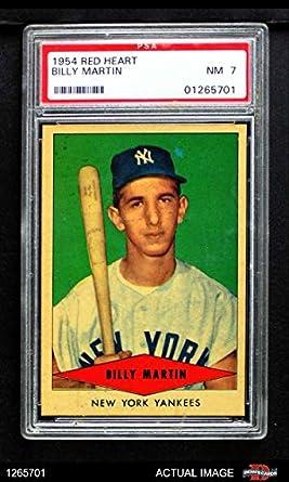 Amazoncom 1954 Red Heart Billy Martin New York Yankees