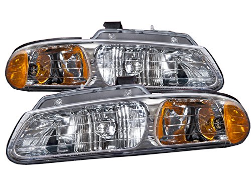 Chrysler Town & Country Plymouth Voyager Dodge Caravan Non Quad Headlight Headlamp Set Pair New