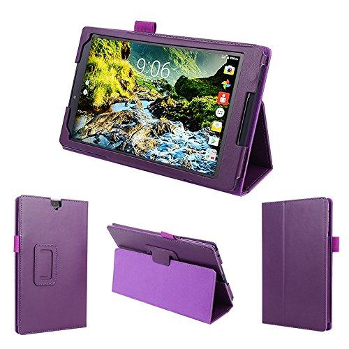 wisers 2016 Verizon Ellipsis 8 HD QTASUN1 QTASUN1B 8-inch Tablet case/Cover, Purple (Ellipsis 8 Case Otter Box)