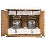 DMSO Dimethyl Sulfoxide NO Odor 2 Glass 8 oz Bottle Special 99.995% Pharma Grade