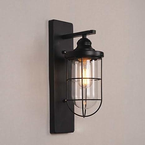 NIUYAO Applique Lámparas de pared Metal & Vidrio con Jaula ...