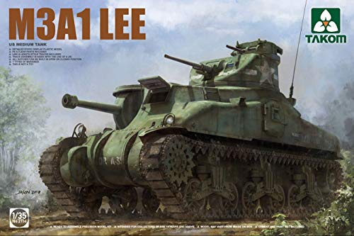 TAK02114 1:35 Takom M3A1 Lee US Medium Tank [Model Building KIT] ()