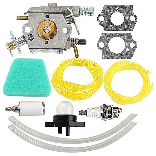Hilom C1U-W8 C1U-W14 Carburetor with Air Fuel Filter for Poulan Chainsaw 1950 2050 2150 2375 WT 89 891 WT-600 WT-624 WT-625 WT-891 Replace 545081885 530069703 (Poulan Chainsaw 2150)