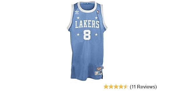 8381d5608 Amazon.com   adidas Kobe Bryant Los Angeles Lakers Light Blue Throwback  Swingman Jersey   Sports   Outdoors