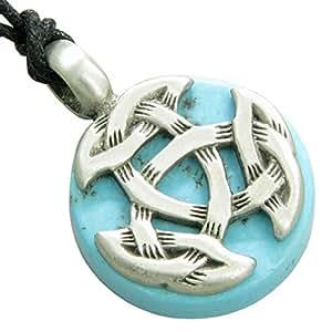 Amazon.com: Amulet Celtic Triquetra Knot Good Luck