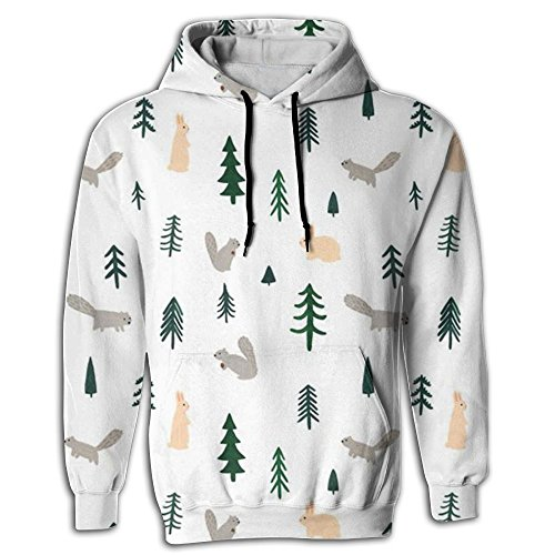 Men's Hoodie Classic Tops Shirt Coat Pullover Tree Cedar Plants Youth (Cedar Spruce Top)