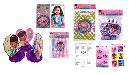 DOC McStuffins Birthday Party Supplies. Favors Set, MINI Table Decorations, DOC McStuffins Stickers, Goodies Favor Treat Bags and More!