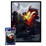 (100) Max Protection Death Grip Design Large Gaming Trading Card Protector Sleeves for Magic the Gathering, Pokemon, World of Warcraft, Kaijudo Duel Masters and Cardfight Vanguard Cards