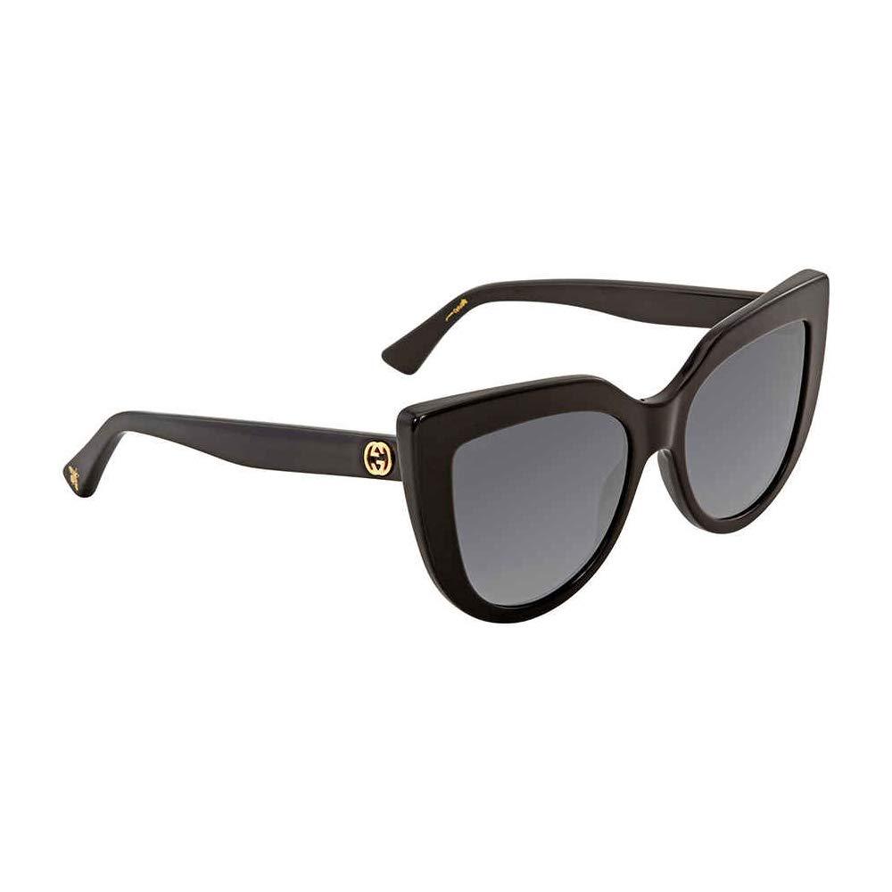 Gucci sunglasses (GG-0164-S 001) Shiny Black - Grey Gradient lenses by Gucci