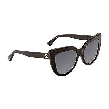 Gucci GG0164S 001, Montures de Lunettes Femme, Noir (1 Grey), 53 ... d56fe7da7e5a