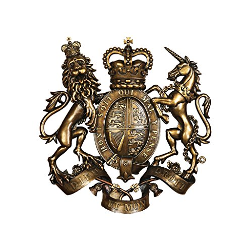 Design Toscano Royal Coat of Arms of Great Britain Wall Sculpture - Family Crest Gifts