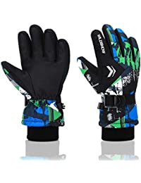 Ski Gloves, RunRRIn 100% Waterproof Warm Snow Gloves for...
