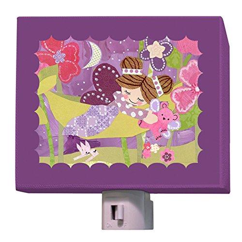 Oopsy Daisy Slumbering Fairy Brunette Night Light, Purple, 5