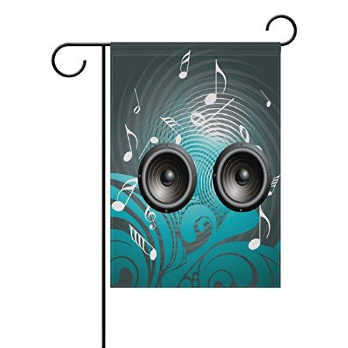 "LEISISI Music Speaker Background Garden flag 28""X40"" Two Sid"